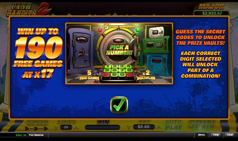 Cash Bandits 2 Slot Review Rtg Video Slot No Deposit Needed No Deposit Casino Bonuses