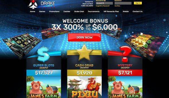 Drake Casino No Deposit Bonuses