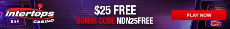 Intertops Casino $25 Free Chip